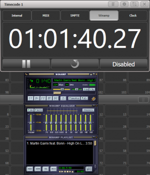 Winamp as timecode source