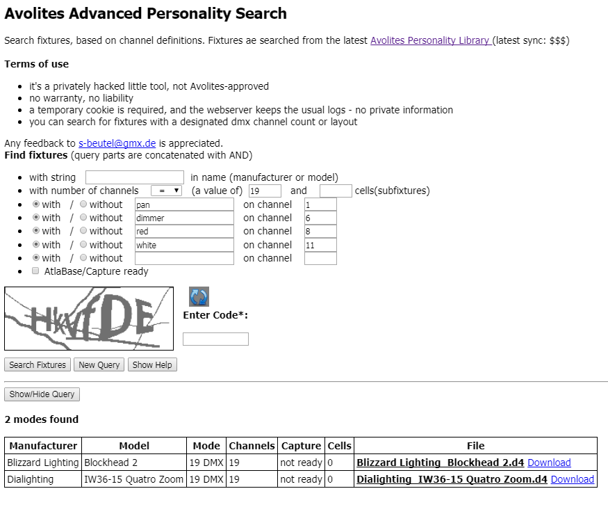 Personality search